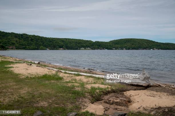Scenic shoreline of Lake Superior, Munising, Michigan.