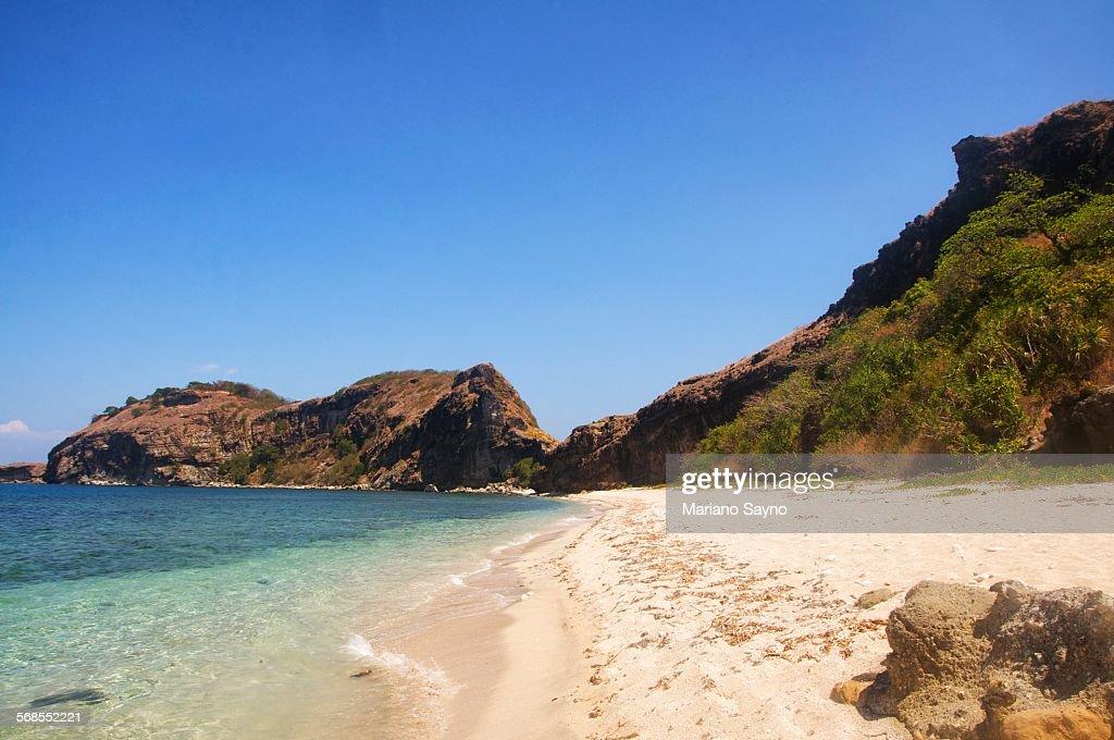 Scenic Shot Of Calm Beach : Stock Photo