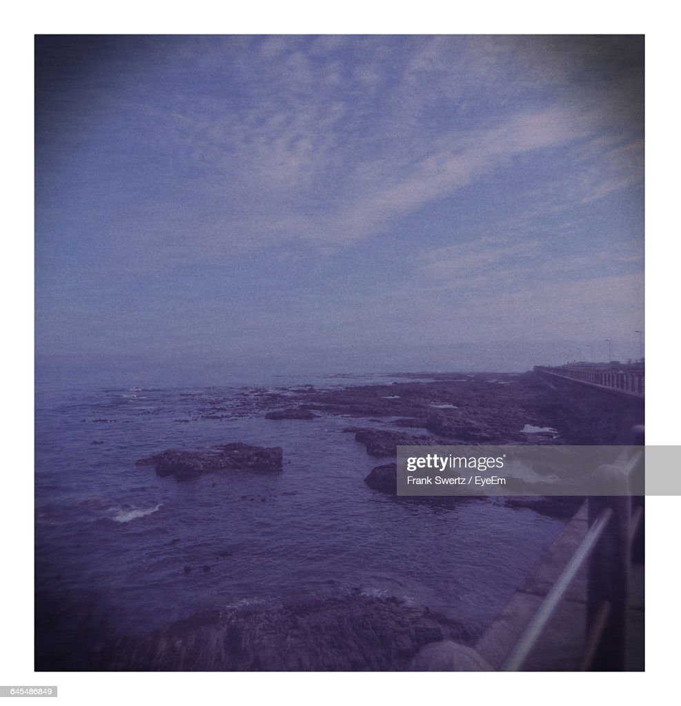 Scenic Shot Of Seascape Against Sky : Stock-Foto