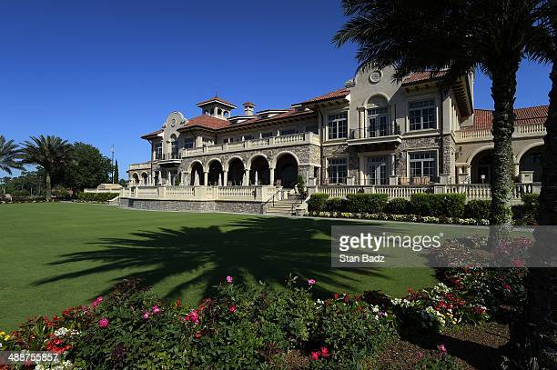 A scenic shot of TPC Sawgrass clubhouse during practice for THE PLAYERS Championship on THE PLAYERS Stadium Course at TPC Sawgrass on May 5 2014 in...
