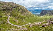 Scenic sight near Bealach na Ba viewpoint, in Applecross peninsula in Wester Ross, Scottish Higlands.