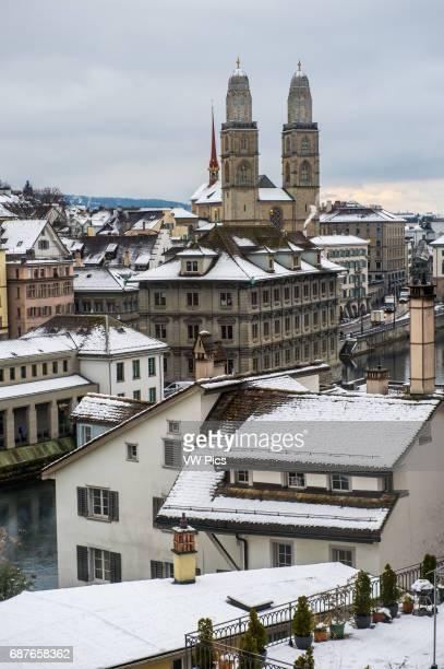 Scenic skyline of Zurich Switzerland Europe