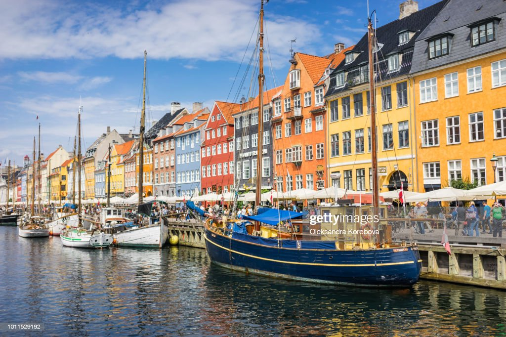 Scenic summer view of Nyhavn pier. : Stock Photo