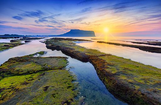 Scenic sunset over seascape - gettyimageskorea