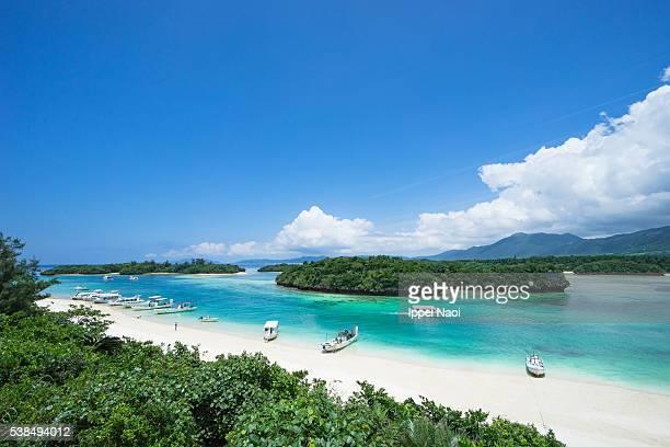 Scenic tropical beach of Iriomote-Ishigaki National Park, Japan