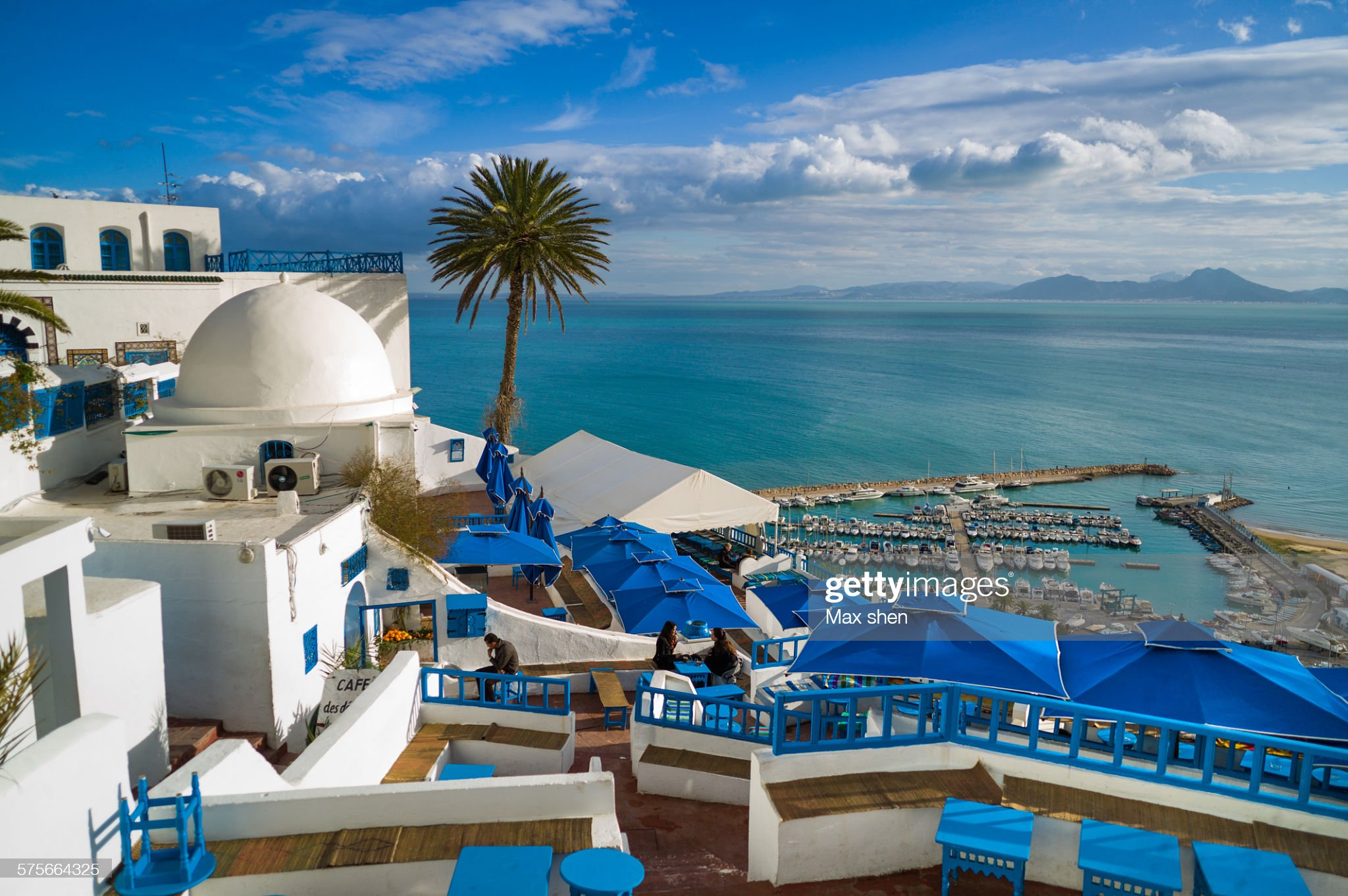 Scenic view at the town of Sidi Bou Said : Foto stock