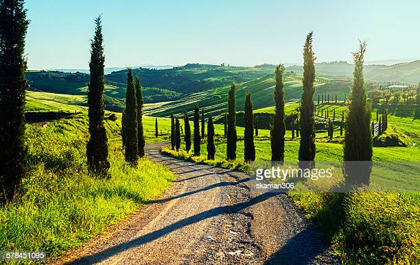Scenic view from San Quirico Tuscany