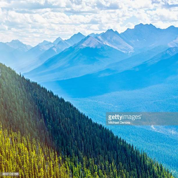 scenic view from sulfur mountain, banff national park - dramatic landscape stock pictures, royalty-free photos & images