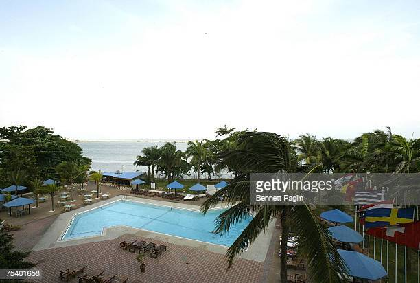 Scenic view from the balcony of the Eko Suites Hotel headquaters for the ThisDay Music Festival on July 13 2007 in Lagos Nigeria The ThisDay Music...