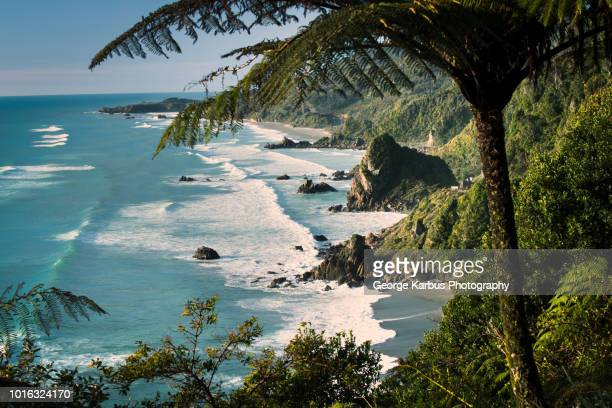 scenic view, karamea, hawkes bay, new zealand - north island new zealand stock pictures, royalty-free photos & images