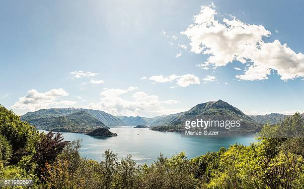 scenic view, lake como, italy - lake como stock pictures, royalty-free photos & images