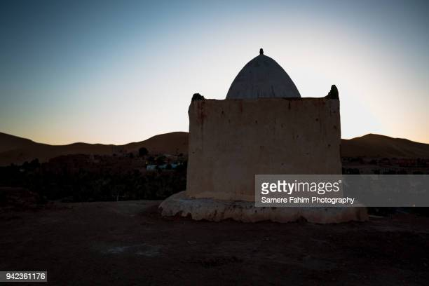 Scenic view of a mausoleum against sky during sunrise