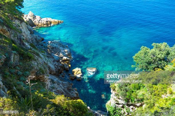 Scenic View Of Adriatic Sea By Mountain