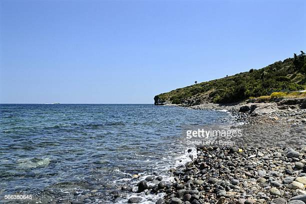 Scenic View Of Aegean Sea Against Clear Sky