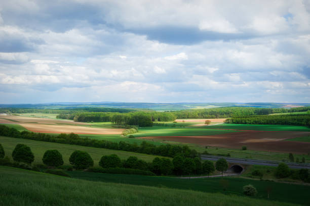 Scenic View Of Agricultural Field Against Sky, Colmar, Luxembourg