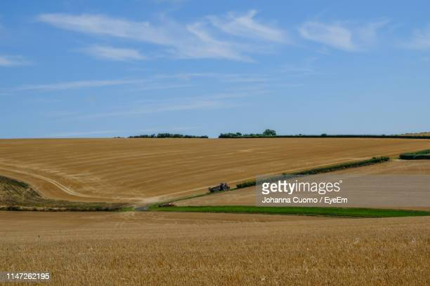 scenic view of agricultural field against sky - cuomo stock pictures, royalty-free photos & images