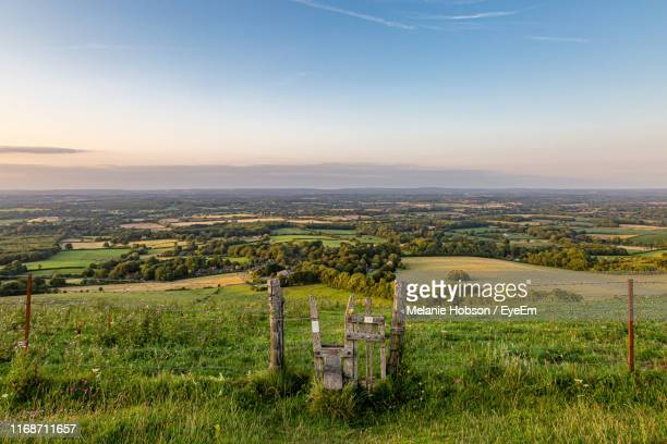 scenic view of agricultural field against sky - national park stock pictures, royalty-free photos & images