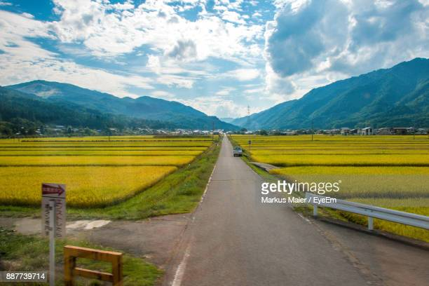 scenic view of agricultural field against sky - takayama city stock pictures, royalty-free photos & images