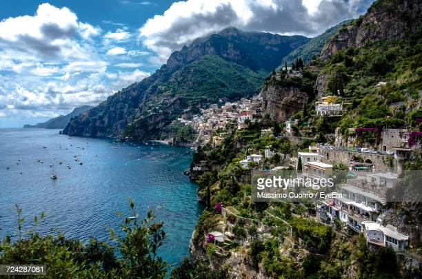 Scenic View Of Amalfi Coast Against Sky