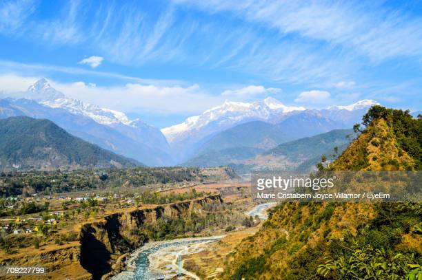 Scenic View Of Annapurna Massif Against Sky