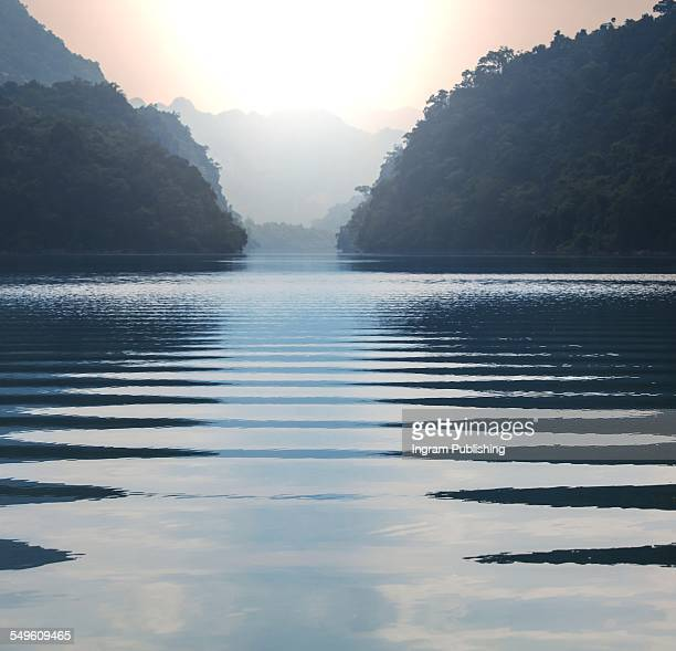 Scenic view of Ba Be lake