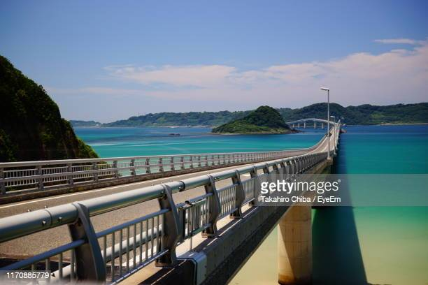 scenic view of bay against sky - 山口県 ストックフォトと画像