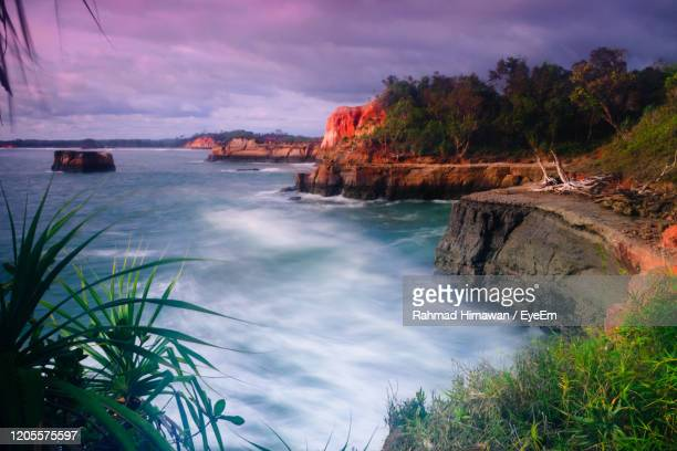 scenic view of bay against sky - rahmad himawan stock pictures, royalty-free photos & images