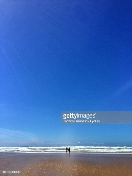 scenic view of beach against blue sky - eyeem stock pictures, royalty-free photos & images