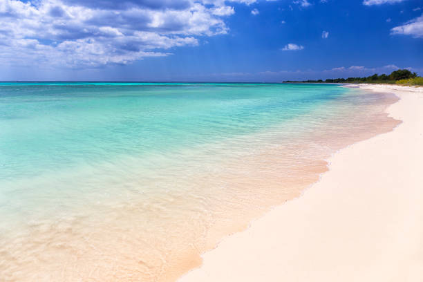Scenic view of beach against sky at Punta Sur, Cozumel, Mexico