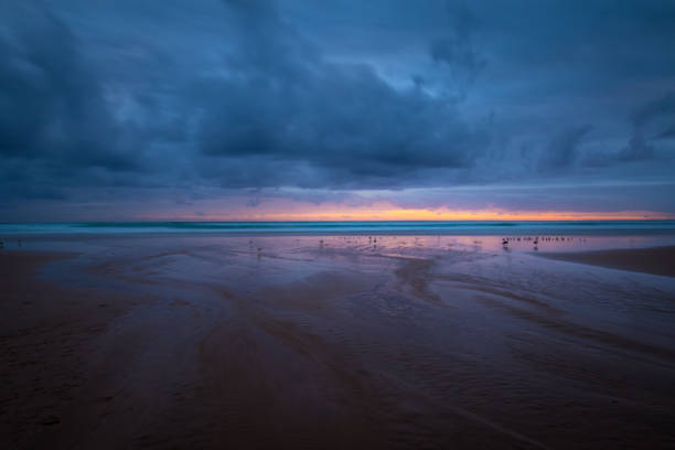 Scenic view of beach against sky during sunset,Eastern Cape,South Africa