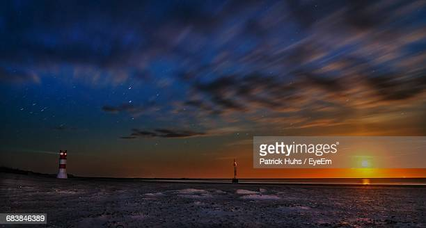 Scenic View Of Beach Against Sky In Winter At Helgoland