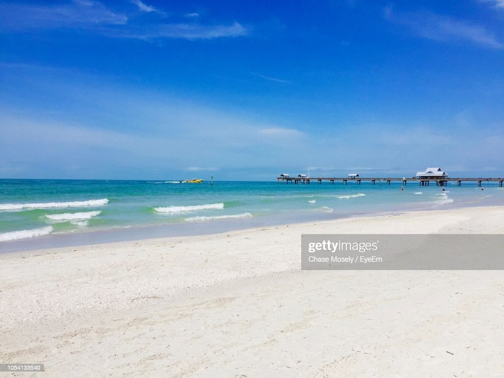 Scenic View Of Beach Against Sky : Stock Photo