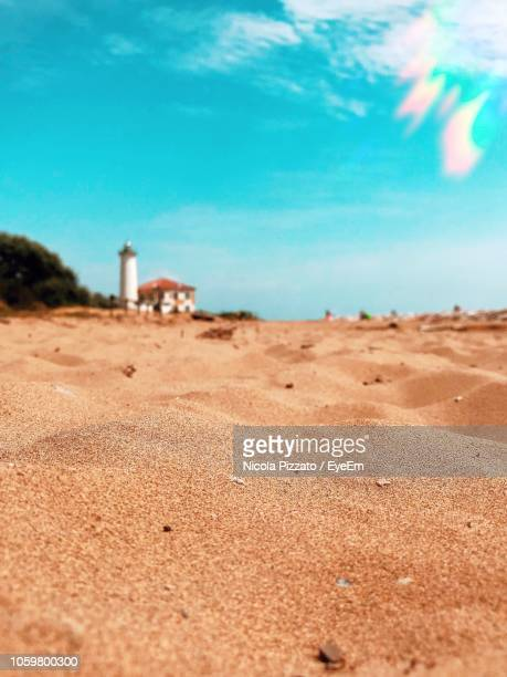 scenic view of beach against sky - veneto stock pictures, royalty-free photos & images