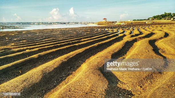 scenic view of beach against sky - made widhana stock photos and pictures
