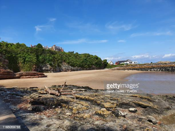 scenic view of beach against sky - barry wood stock pictures, royalty-free photos & images