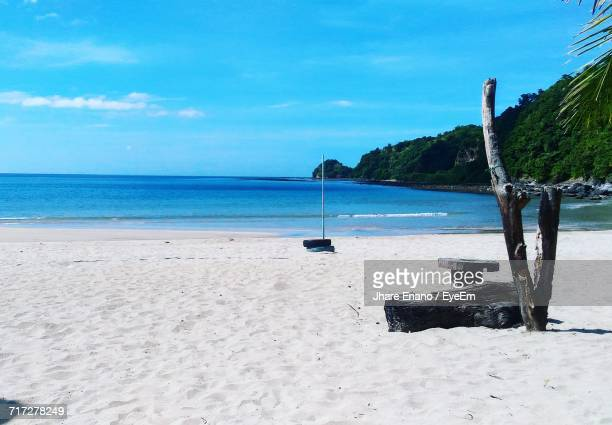 scenic view of beach against sky - enano stock pictures, royalty-free photos & images