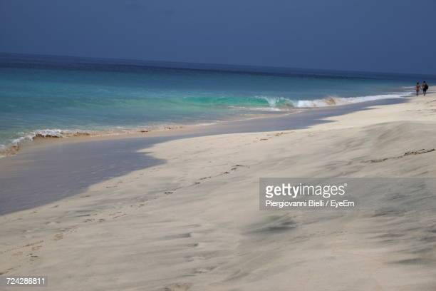 scenic view of beach against sky - cape verde stock pictures, royalty-free photos & images