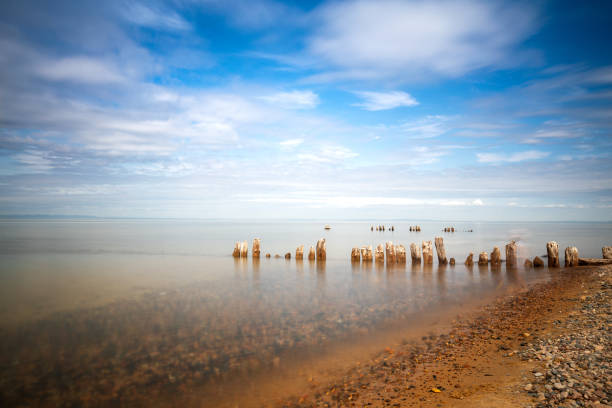 Scenic view of beach against sky,Whitefish Point,Michigan,United States,USA