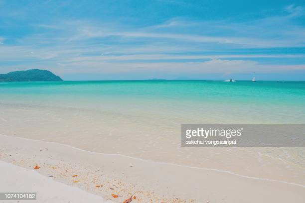 Scenic View of Beach at Tarutao Small island near Koh Lipe island Against Sky in Thailand