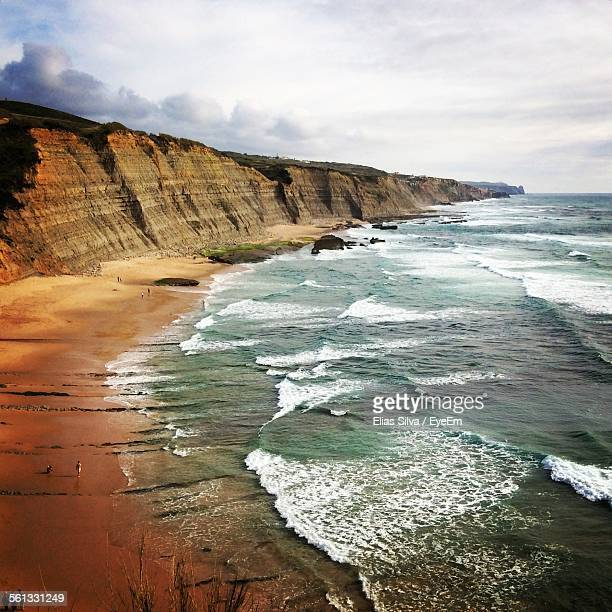 Scenic View Of Beach In Sintra-Cascais Natural Park