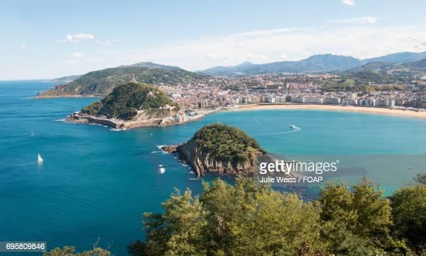 Scenic view of beach in Spanish