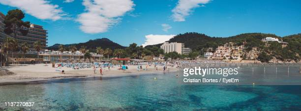 scenic view of beach - bortes bildbanksfoton och bilder