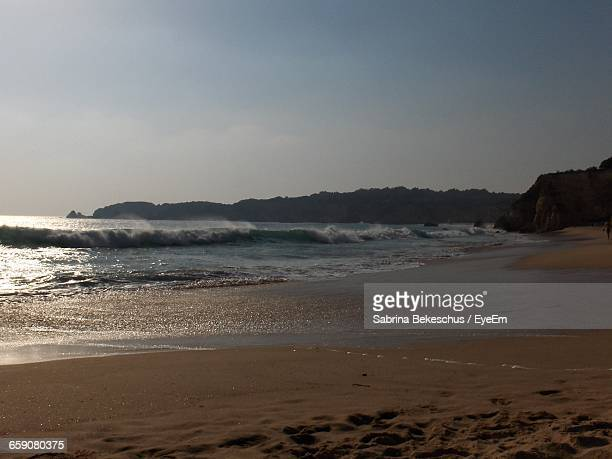 scenic view of beach - alvor stock pictures, royalty-free photos & images