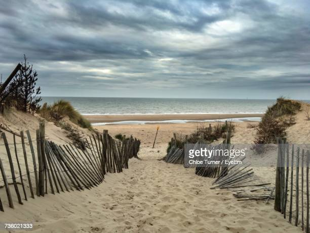 scenic view of beach - merseyside stock pictures, royalty-free photos & images