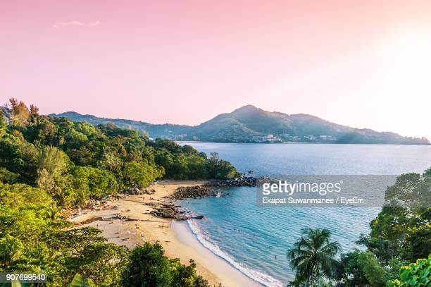scenic view of beach - phuket province stock pictures, royalty-free photos & images