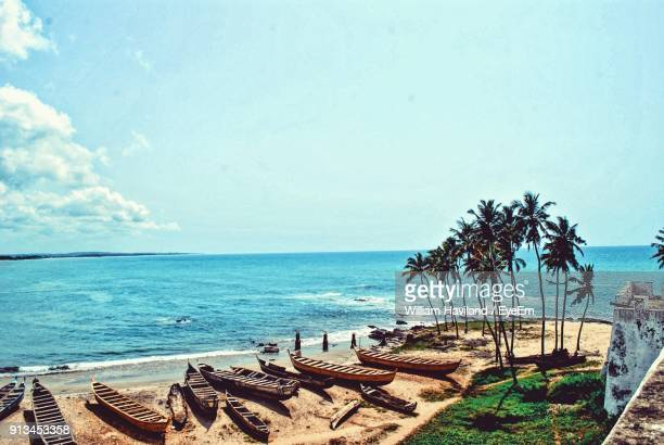 scenic view of beach - ghana stock pictures, royalty-free photos & images