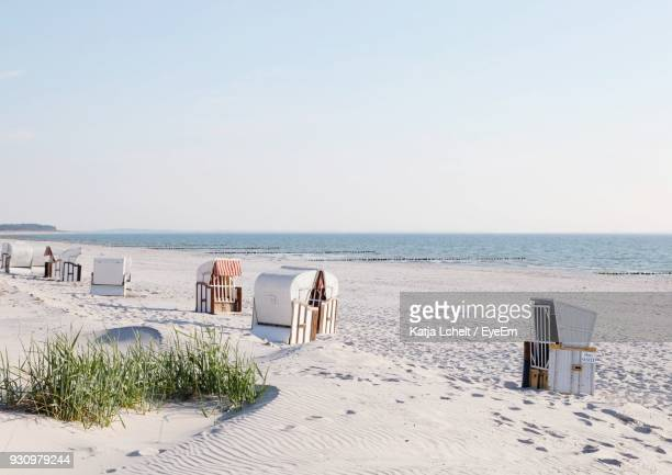 scenic view of beach - mecklenburg vorpommern stock pictures, royalty-free photos & images