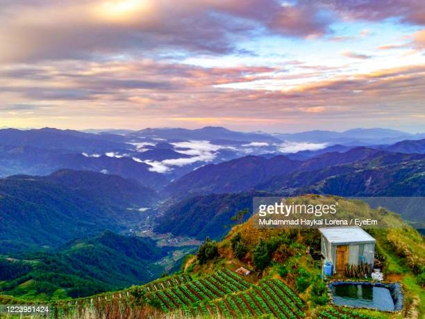 scenic view of benguet mountains against sky - lorena day stock pictures, royalty-free photos & images