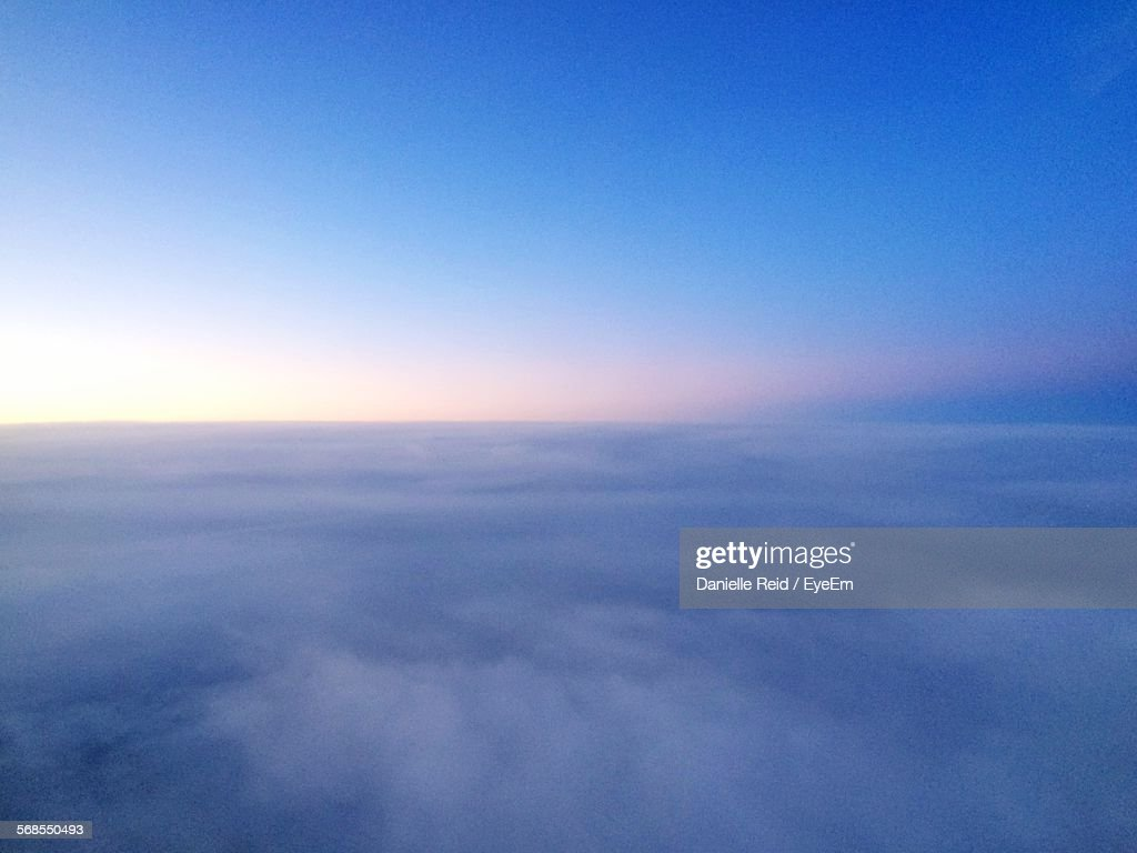 Scenic View Of Blue Clouds In Sky : Stock Photo