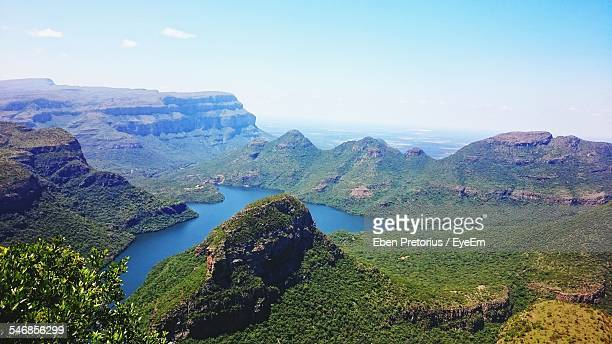 Scenic View Of Blyde River Canyon Against Clear Sky